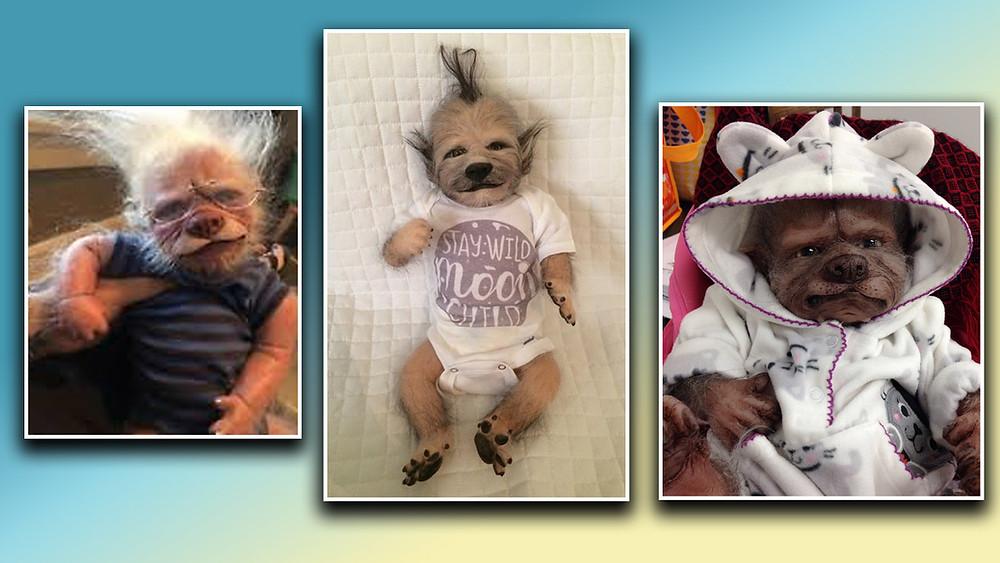 werepups, werewolf puppies, reborn dolls