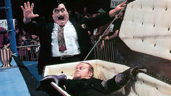 Paul Bearer also sometimes drove The Undertaker to fight in a hearse
