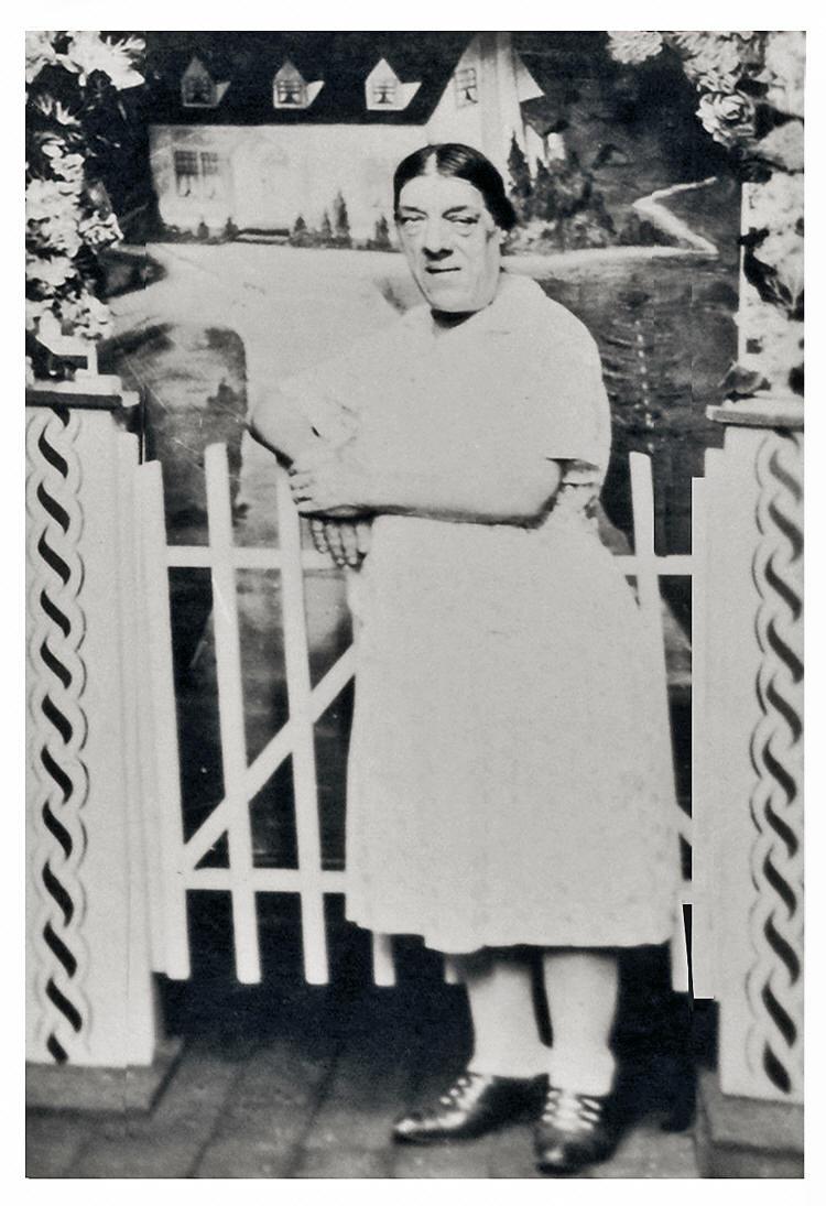 Mary Ann poses in a photo sold as a circus souvenir