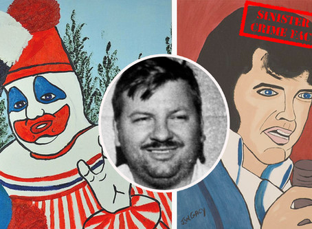 John Wayne Gacy's victims' relatives destroyed  his paintings in a huge bonfire