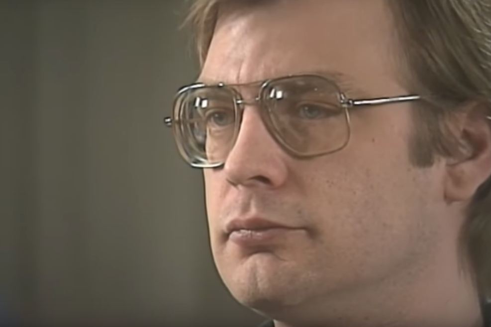 Jeffrey Dahmer in a pair of grotty aviators
