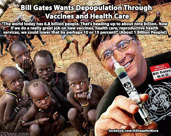A typical anti-Bill Gates meme found on social media