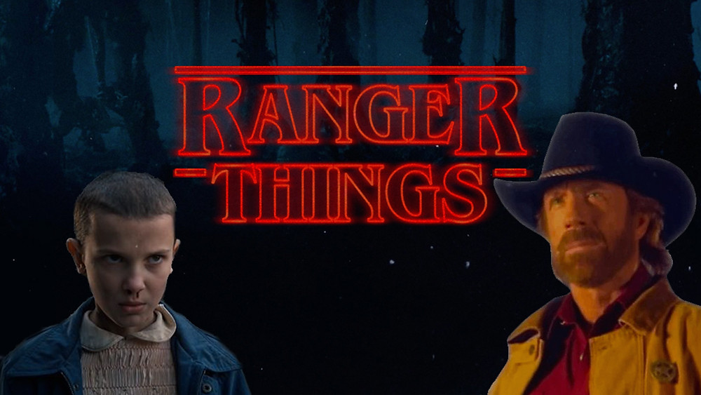 stranger things, walker texas ranger, eleven, chuck norris