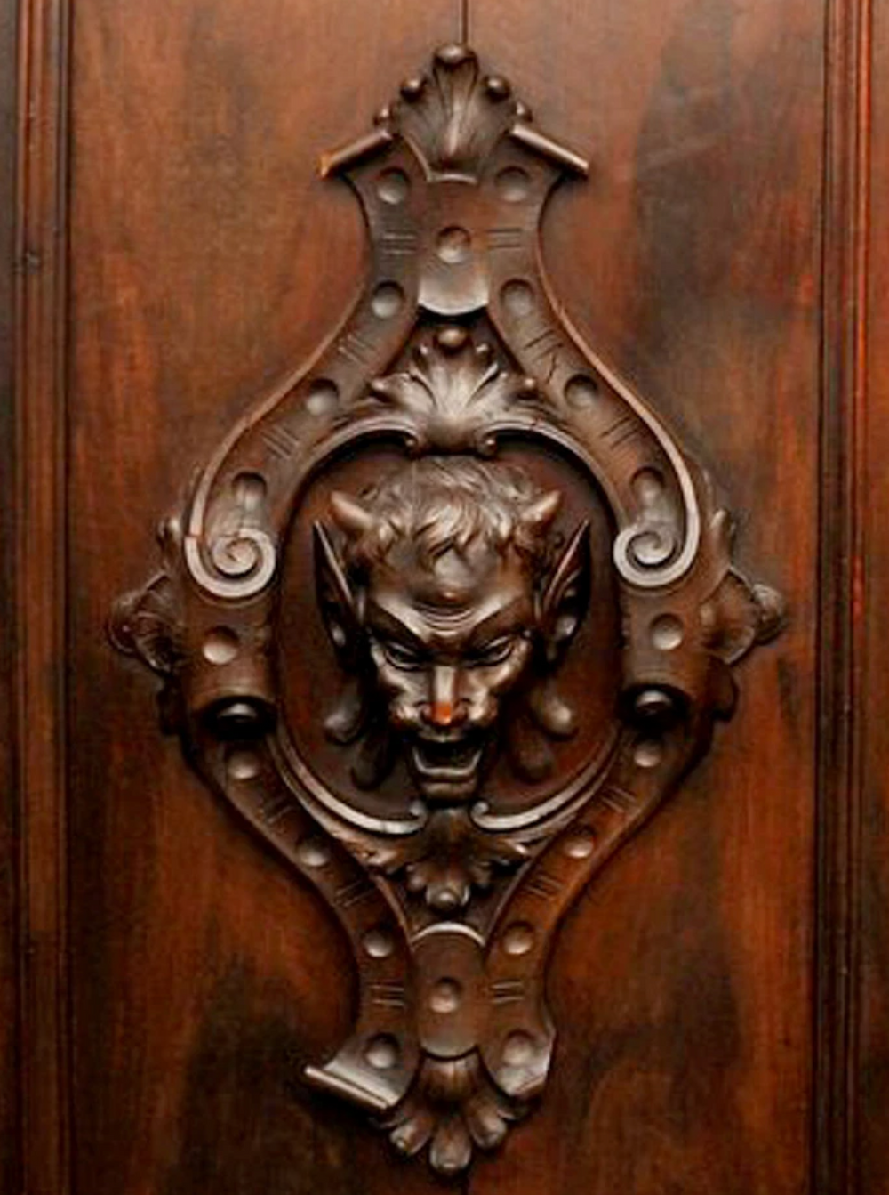 A close-up of the ornate design
