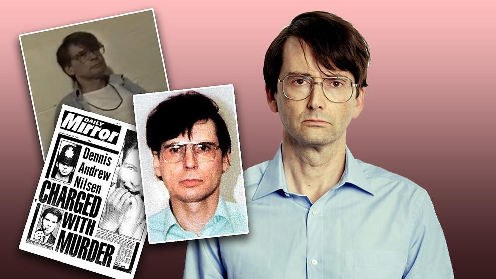 Dennis Nilsen, david Tennant, drama, glasses, blue shirt