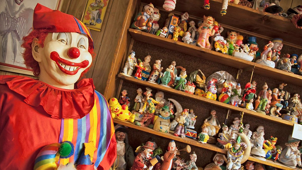 The original owner denied chatting to the clowns... perhaps he was too scared they might talk back!