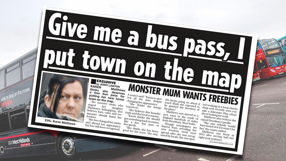 karen matthews, bus pass, shannon matthews