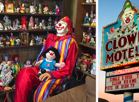 Would you sleep at the clown motel? (it's next to a graveyard)