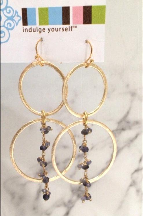 Iolite Gold Loops