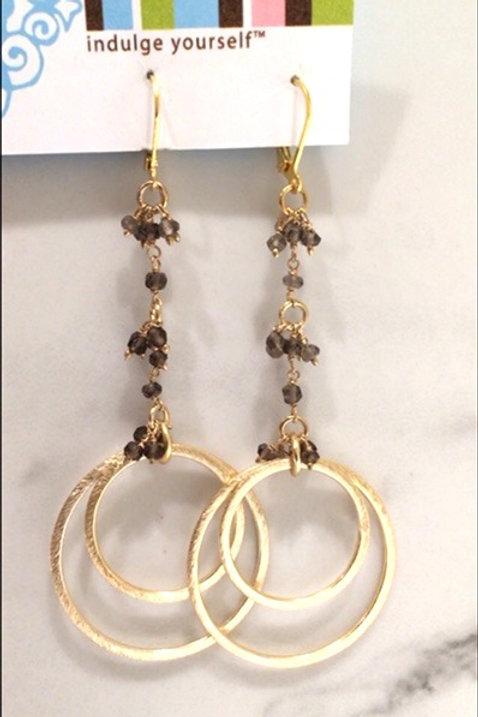Smoky Topaz 'Olivia' Earring