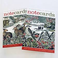 Angela Harding - 10 x Notecards with Envelopes in 2 Designs