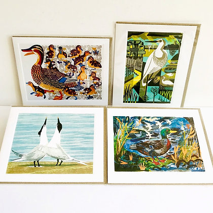 Waterbirds Printmakers Card Collection - 4 Designs by Art Angels
