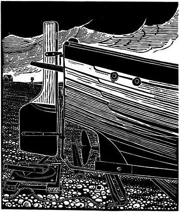 James Dodds - Stern of an Aldeburgh Beach Boat