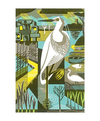 Clare Curtis - The Family - Stork - Card published by Art Angels