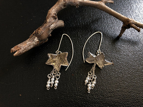 Stirling Silver Geranium Earrings- Sandra Kerns Jewellery