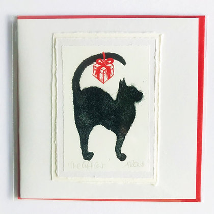 Alison Read Christmas Cards - The Gift Cat