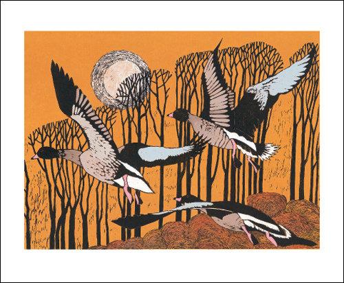 Pinkfeet Rising - Lisa Hooper - Art Angels Printmakers Cards