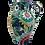 Thumbnail: Pru Green Pottery Jug -Tall Large Floral Jug