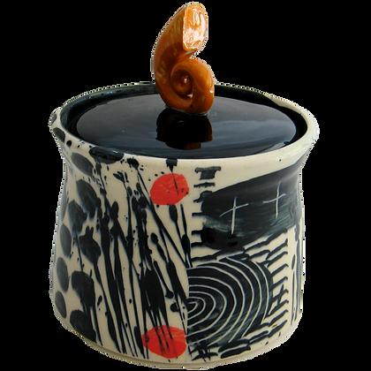 Simon Sharp - Lidded Jar Handmade Studio Pottery