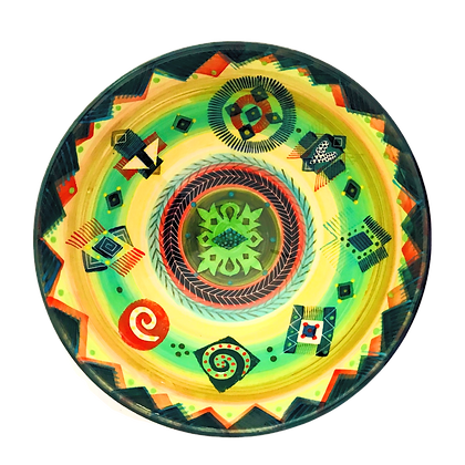 Pru Green Handmade Pottery - Colourful Deep Bowl