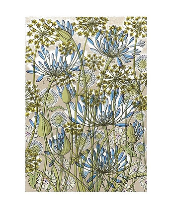 Angie Lewin - Walled Garden - Art Angels Blank Card