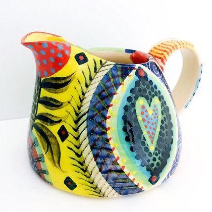 Pru Green - Large Pint Jug with Colourful Design