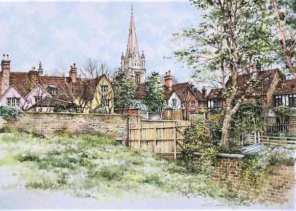 Colin Warden -Rooflines and Spire-Saffron Walden - Church Street Gallery