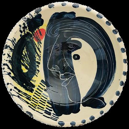 Simon Sharp Pottery - Bowl Abstract Design