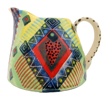 Pru Green Pottery - Colourful Small Can Jug