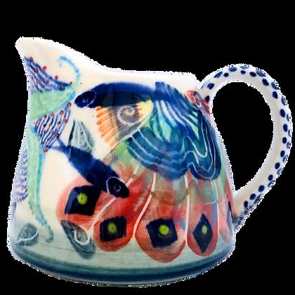 Pru Green Pottery - Small Jug Shell and Fish Design