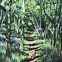 Geri Jones-Woodland Walk-Original Painti