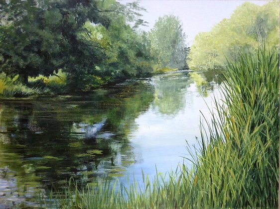Late Summer on the River - Sally Pudney Original Painting
