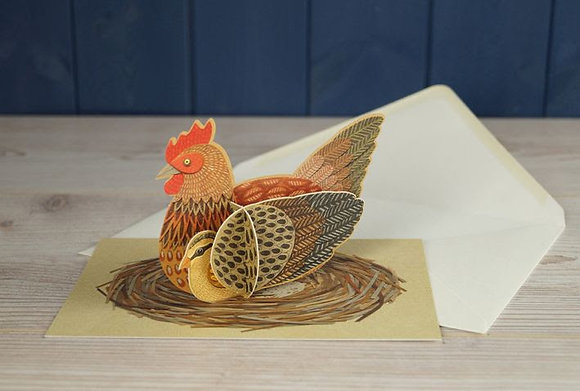 Hen - Pop Out 3D Card by Alice Melvin