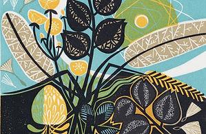 Meadow-Linocut-Clare Curtis-Church Stree