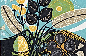 Meadow-Linocut-Clare Curtis-Church Stree