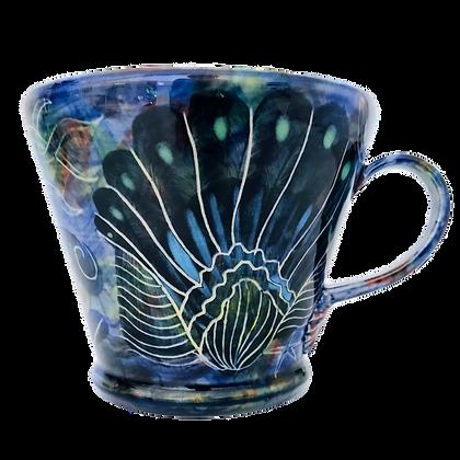 Pru Green - Blue Mug Mollusc Design II