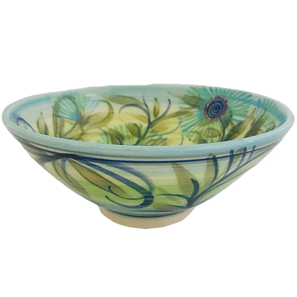 Pru Green - 17cm Bowl Bottlebrush Flower Design