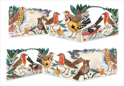 Mark Hearld - Die Cut Fold Out Card - Winter Feast - Art Angels