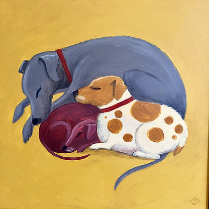 Catriona Hall - Let Sleeping Dogs Lie - Original Painting