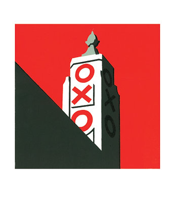 Paul Catherall - Oxo Tower - Art Angels Blank Card