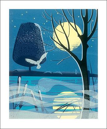 Moonlight Hares - Christmas Cards - Art Angels Winter Printmakers