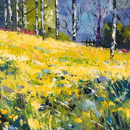 Spring Woods - Debbie Scott Oil Painting