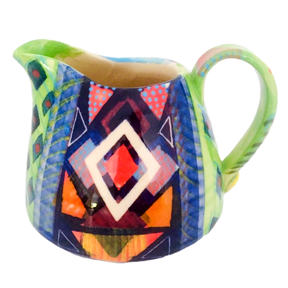 Pru Green Pottery - Small Colourful Can Jug