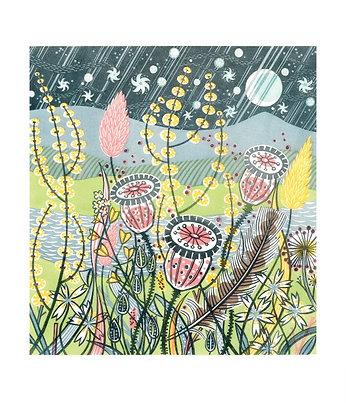 Angie Lewin - Season Songs - Fine Art Single Card