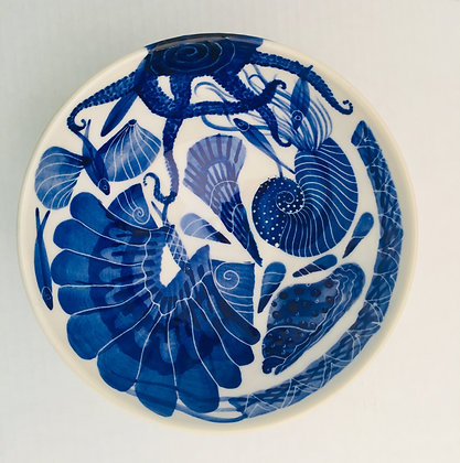 Pru Green - Decorated Bowl - Medium