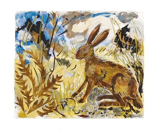 Hare - Mark Hearld - Art Angels Single Blank Card