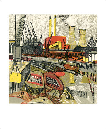 The River Lea - Rupert Shepherd - Art Angels Printmakers Cards