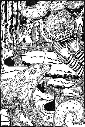 Jenny Portlock - Close To The Edge - Wood Engraving