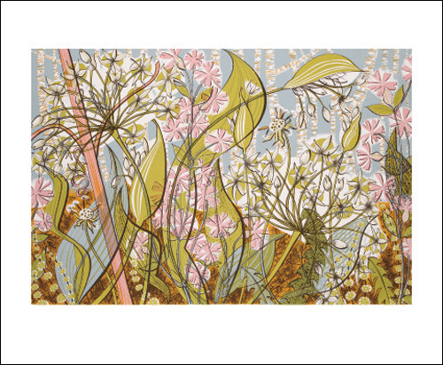Angie Lewin - Ramsons and Campion-Flowers- Art Angels Blank Card