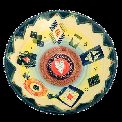 Pru Green Pottery - Medium Colourful Deep Bowl